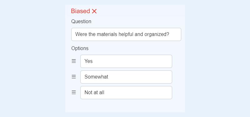 Double-barreled question
