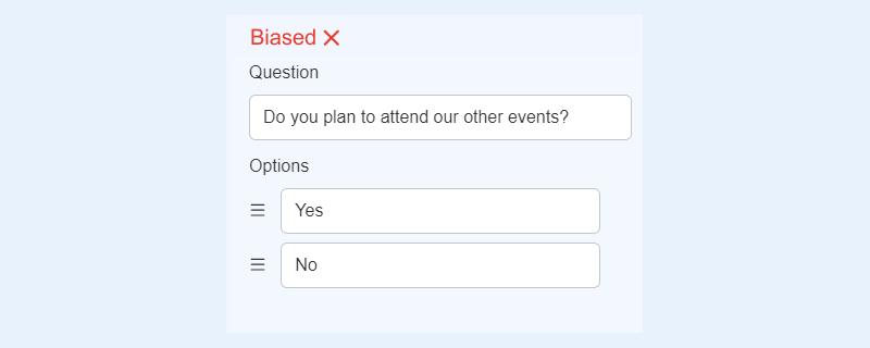 Dichotomous question