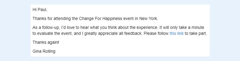 Evaluation request