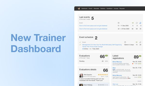 Introducing new trainer dashboard