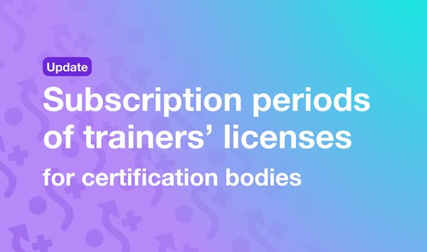 Subscription periods of trainers' licenses for certification bodies